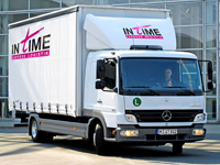 IN tIME Express Logistik GmbH plant mit PTV Map&Guide